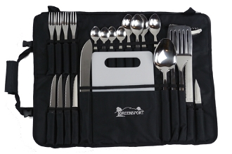 CAMP KITCHEN UTENSIL SET W/ ROLL