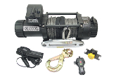 TJM 15000 lb Stealth Series Winch Synthetic rope.