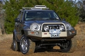 Jeep KJ Liberty Deluxe Bull Bar Winch Mount Bumper
