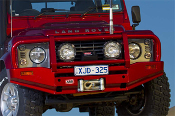 Land Rover Defender 90,110,130 Deluxe Bull Bar Winch Mount