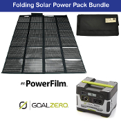 PowerFilm 60 Watt and Yeti 400 Folding Solar Power Pack Bundle