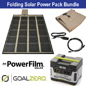 PowerFilm 120 Watt Yeti 400 Folding Solar Power Pack Bundle