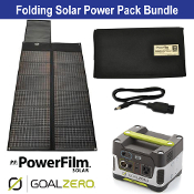 PowerFilm 30 Watt Yeti 150 Folding Solar Power Pack Bundle