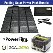 PowerFilm 60 Watt and Yeti 150 Folding Solar Power Pack Bundle