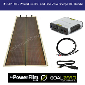 PowerFilm 60 Watt Rollable Solar Charger Goal Zero Sherpa 100