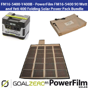 PowerFilm 90 Watt Yeti 400 Folding Solar Power Pack Bundle